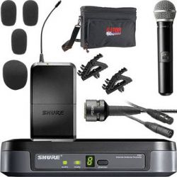 Shure PG Series Basic Wireless Handheld Microphone and Lavalier