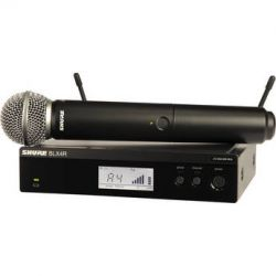Shure BLX24R Handheld Wireless System with SM58 BLX24R/SM58=-M15