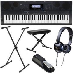Casio WK-6500 76-Key Keyboard Basics B&H Kit B&H Photo Video