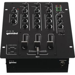 "Gemini PS3 Professional 10"" 3-Channel Stereo DJ Mixer PS3"