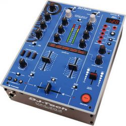DJ-Tech DJM-303 Twin USB DJ Mixer (Blue) DJM303BLUEEDITION B&H
