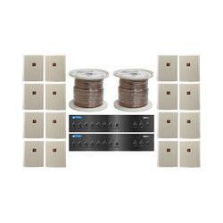 JBL Dual Two-Zone Amplifier/Sixteen Wall-Mount Speaker System