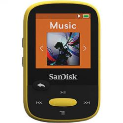 SanDisk 8GB Clip Sport MP3 Player (Yellow) SDMX24-008G-A46Y B&H