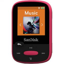 SanDisk 8GB Clip Sport MP3 Player (Pink) SDMX24-008G-A46P B&H