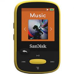 SanDisk 4GB Clip Sport MP3 Player (Yellow) SDMX24-004G-A46Y B&H