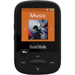 SanDisk 8GB Clip Sport MP3 Player (Black) SDMX24-008G-A46K B&H