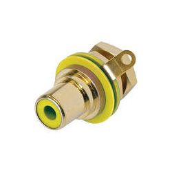 Neutrik RCA Jack Chassis Mount Socket (Gold/Yellow) NYS367-4 B&H