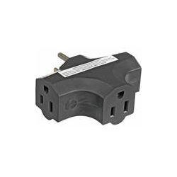 E-String Tri Tap NEMA 5-15 Adapter (Black) 50201B B&H Photo