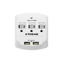 Xtreme Cables 3-Outlet Wall Tap with 2 USB Ports (White) 28311