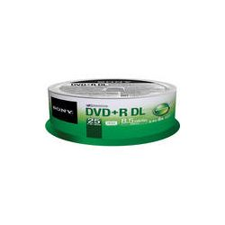 Sony DVD+R 8.5 GB Dual Layer Recordable Discs 25DPR85SP B&H