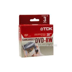 TDK  DVD-RW14RGA Mini DVD-RW Disc (3) 48542 B&H Photo Video