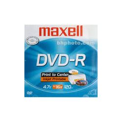 Maxell DVD-R Inkjet Printable Recordable Disc (Jewel Case)