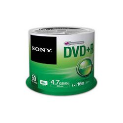 Sony Recordable Storage DVD+R (Pack of 50) 50DPR47SP B&H Photo