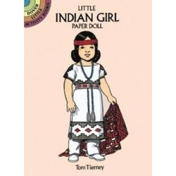 Little Indian Girl Paper Doll by Tom Tierney, 9780486270043.