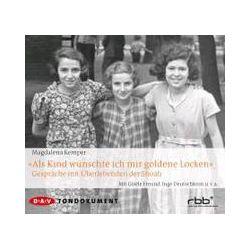 """Hörbücher: """"Als Kind wünschte ich mir goldene Locken""""  von Magdalena Kemper"""
