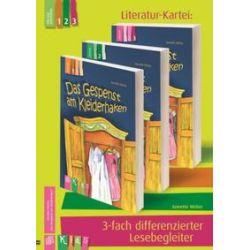 """Bücher: KidS - Literatur-Kartei: """"Das Gespenst am Kleiderhaken""""  3-fach differenzierter Lesebegleiter  von Annette Weber"""