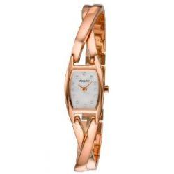 Accurist Damen-Armbanduhr Analog Rotgold LB1438