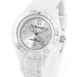 Alienwork Chronos Quarzuhr Armbanduhr Wasserdicht 5ATM Uhr Silikon weiss weiss U0563F-02-5A