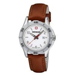 Wenger Damen-Armbanduhr XS Platoon Analog Quarz Leder 01.9211.101