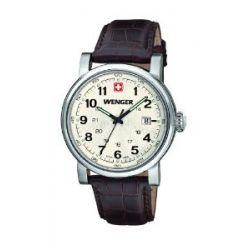 Wenger Herren-Armbanduhr XL Urban Classic Analog Quarz Leder 01.1041.101