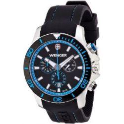 Wenger Herren-Armbanduhr XL Seaforce Chronograph Quarz Silikon 01.0643.103