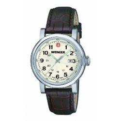 Wenger Damen-Armbanduhr XS Urban Classic Analog Quarz Leder 01.1021.101