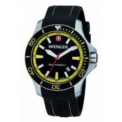 Wenger Herren-Armbanduhr XL Seaforce Analog Quarz Silikon 01.0641.101