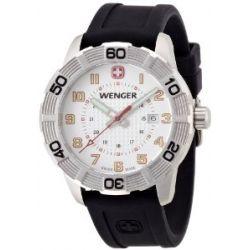 Wenger Herren-Armbanduhr XL Roadster Analog Quarz Silikon 01.0851.104