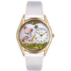 Skurril Uhren C-0420006 Womens Carousel Lavender Leather And Goldton Uhr