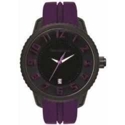 TENDENCE Unisex-Armbanduhr GULLIVER MEDIUM - FUNKY Analog Plastik Violett T0930021