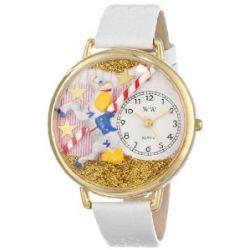 Whimsical Watches Unisex G0420003 Carousel Weiß Leder Uhr