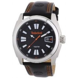 Timberland Herren-Armbanduhr XL Analog Quarz Leder TBL.13853JS/02