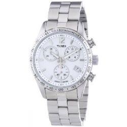 Timex damen armbanduhr style chronograph quarz edelstahl t2p059