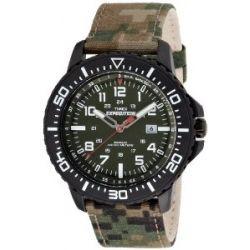 Timex Herren-Armbanduhr XL Expedition Uplander Camo Analog Quarz Textil T49965