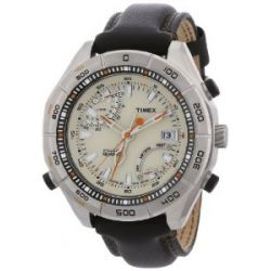 Timex Expedition Herren-Armbanduhr XL Timex Expedition Epedition E-Altimeter Analog Leder T2N728