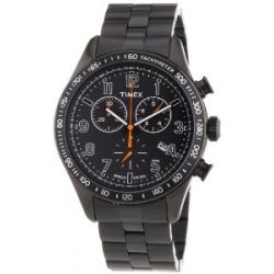 Timex Herren-Armbanduhr XL Timex Style Kaleidoscope Men's Chrono Analog Quarz Edelstahl T2P183
