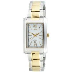 Timex Herren-Armbanduhr Timex Partneruhren Analog Edelstahl beschichtet T2N284