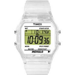 Timex Unisex-Armbanduhr Timex Heritage Digital weiß T2N803D7