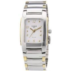 Tissot Damen-Armbanduhr T10 Lady Analog Quarz Edelstahl T073.310.22.017.00