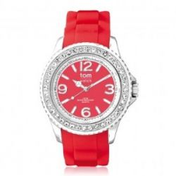 "Tom Watch Crystal 40 ""strawberry red"", Einheitsgröße, rot"
