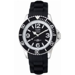 TOM WATCH Armbanduhr BASIC 44 mm Pepper Black, Größe XL (133-1)