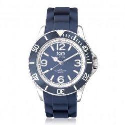 Tom Watch Basic 40 pigeon blue / Damen und Herren Silikon Armbanduhr / WA00081, 40 mm, dunkelblau
