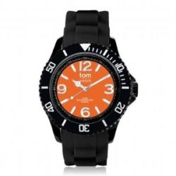 """Tom Watch Basic Black 44 """"black mandarin"""", Einheitsgröße,schwarz/orange"""