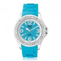 Tom Watch Crystal 40 ocean turquoise / Damen und Herren Silikon Armbanduhr / WA00069, 40 mm, türkis