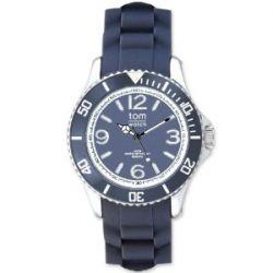 Tom Watch Basic 48 pigeon blue / Damen und Herren Silikon Armbanduhr / WA00057, 48 mm, stahlblau