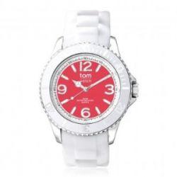 """Tom Watch Basic White 44 """"w. strawberry red"""", Einheitsgröße,weiß/rot"""