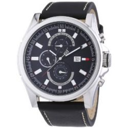 Tommy Hilfiger Herren-Armbanduhr XL Arlington Chronograph Quarz Leder 1790730