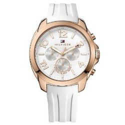 Tommy Hilfiger Watches Damen-Armbanduhr Serena Analog Quarz Silikon 1781388