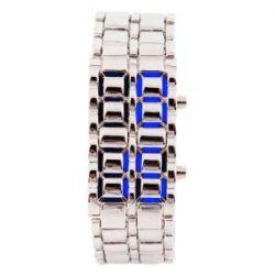 LED Uhr Silber / Blau Trend Watch Face Style Sport Herrenuhr Damenuhr HOT