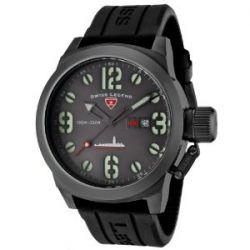 Swiss Legend Herren-Armbanduhr Submersible Analog Silikon Schwarz SL-10543-GM-014